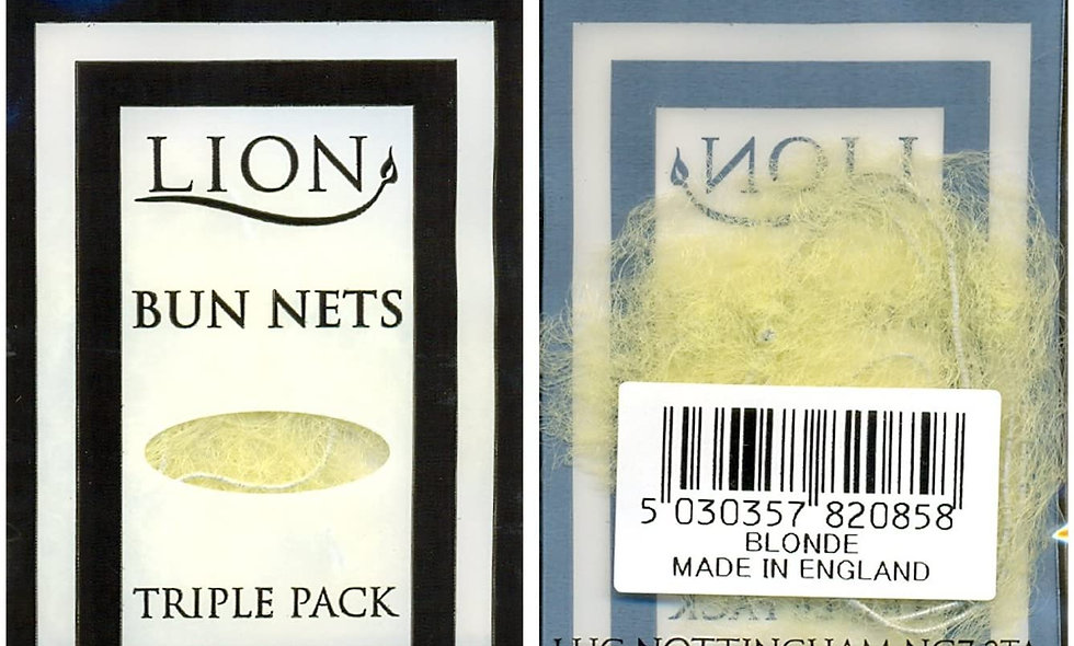 Pack of 3 Bun Nets (Available in 5 hair colours)