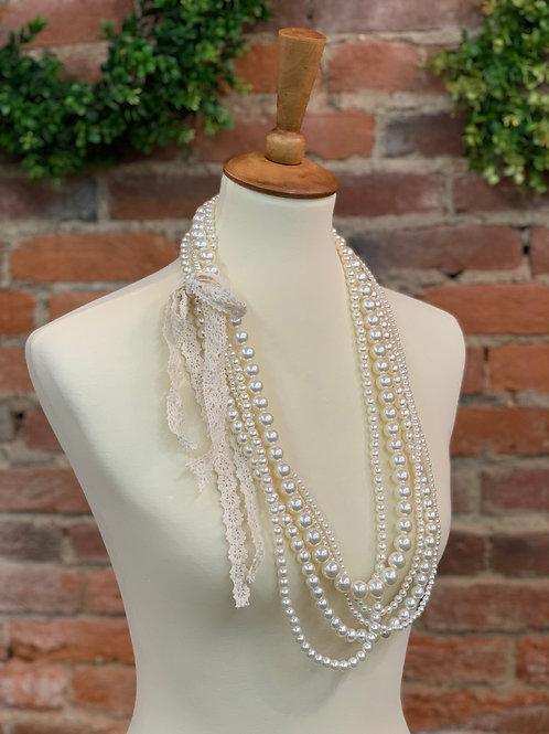 5 Strand Pearl Necklace