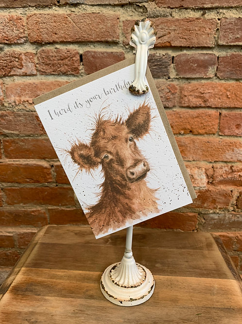 """I Herd"" Happy Birthday Card"