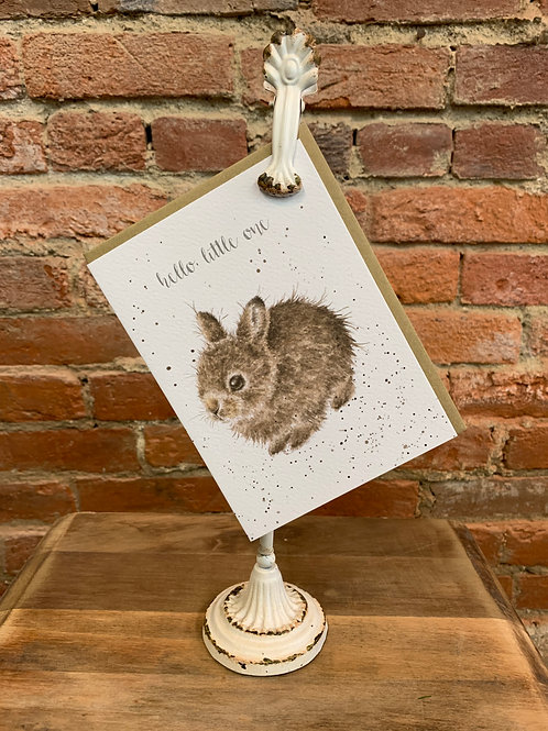 """Little Leveret"" New Baby Card"