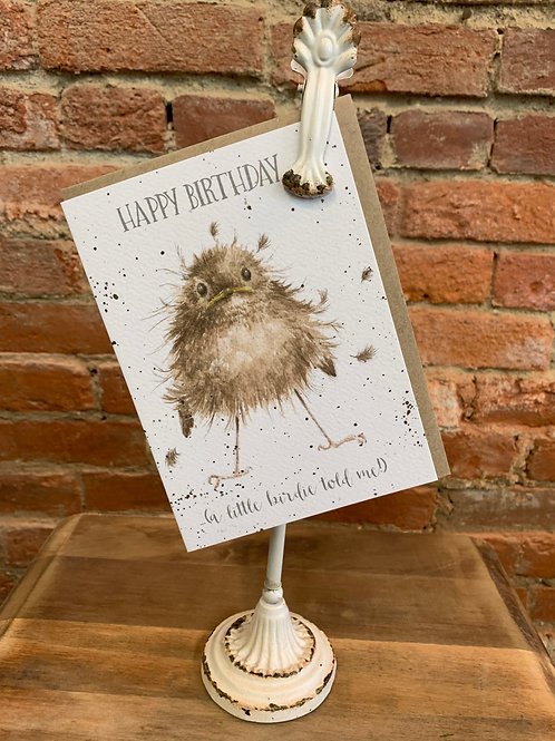"""Little Wren"" Happy Birthday Card"