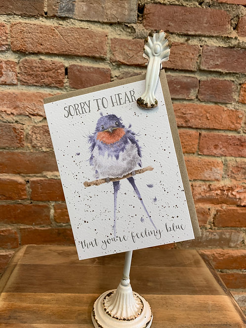 """""""Feeling Blue"""" Thinking of You Card"""