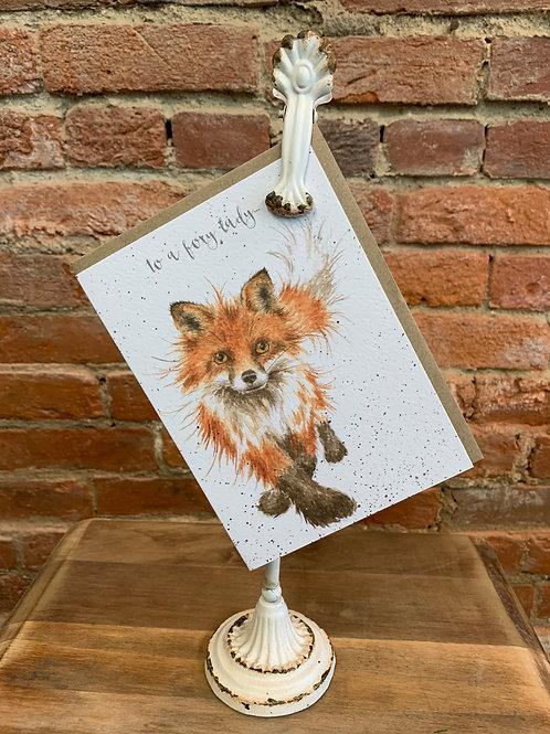 """Foxy Lady"" Greeting Card"