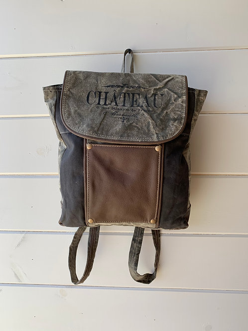 Leather Pocket Backpack Bag