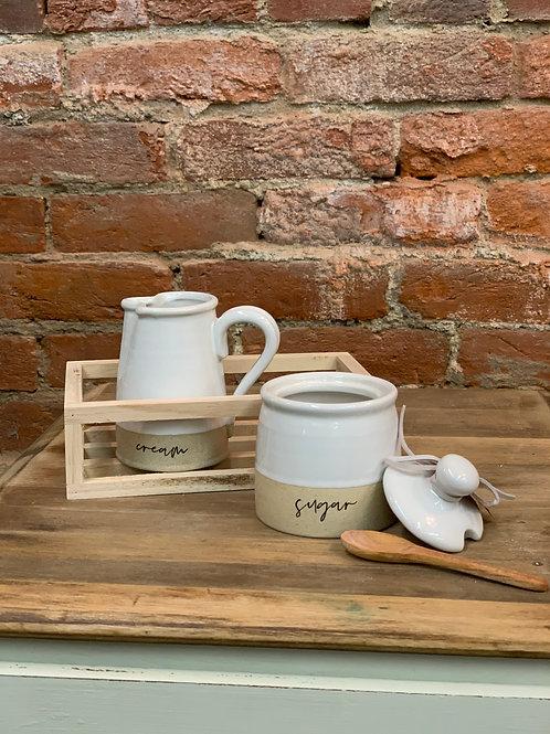 Sugar & Creamer Pottery