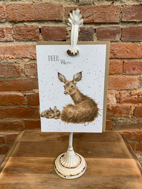 """Deer Mom"" Greeting Card"