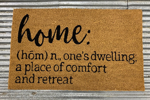 Home Definition Welcome Mat
