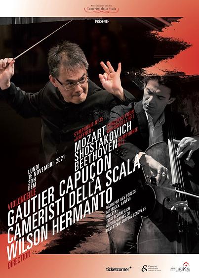 Correction of the final version of the graphic image (G. Capuçon Cameristi della Scala W.