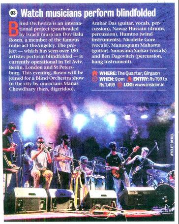 Show recomendation in Mumbai Mirror