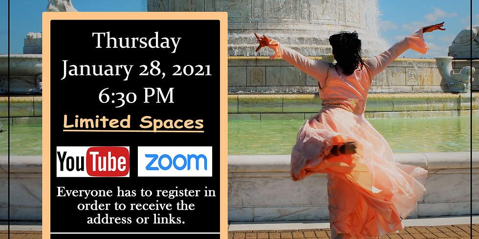 January 28 Thursday Virtual Choreography Class w/ Yolanda Rountree (Free Class)