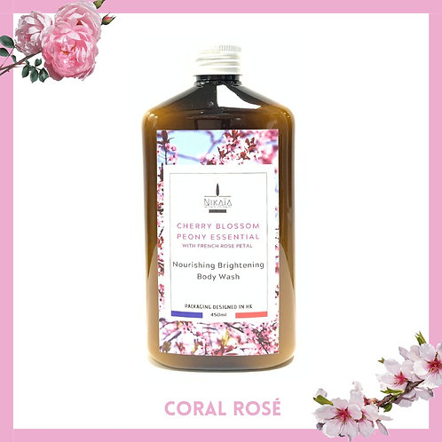 Peony Cherry Blossom With French Rose Petal Body Wash 牡丹櫻花配法國玫瑰花瓣沐浴乳