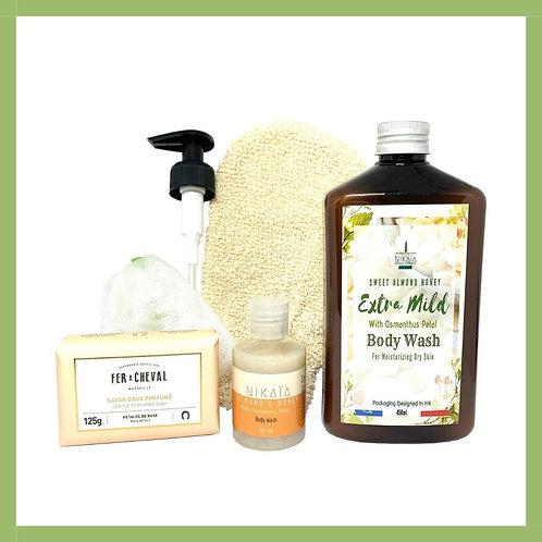 (Honey Almond) Bath Set Série 2020 蜜糖杏仁沐浴套裝