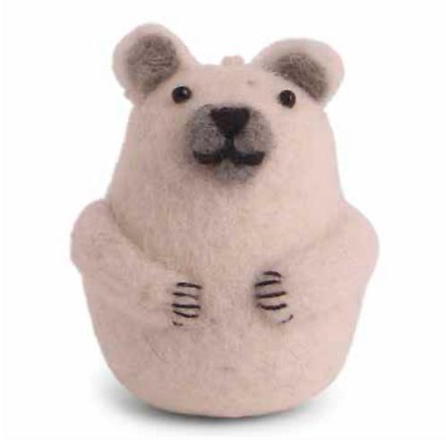Mini ours polaire en feutrine