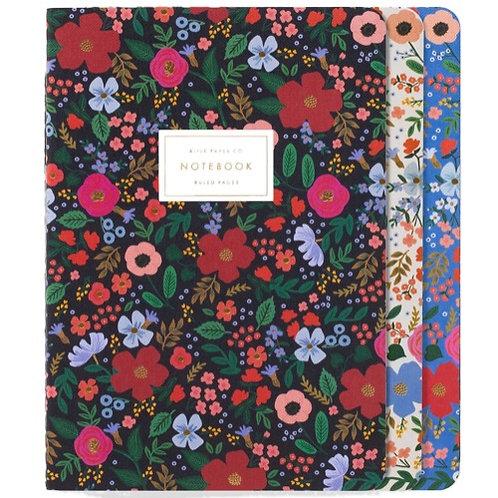Set 3 notebook wild rose