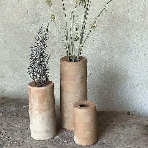 Ensemble de 3 vases en terre cuite