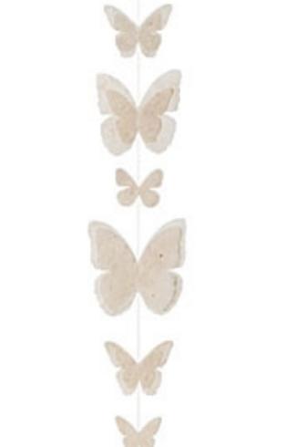 Guirlande  en papier gros papillons