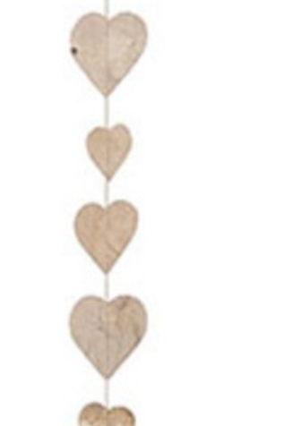 Guirlande  en papier petits cœurs