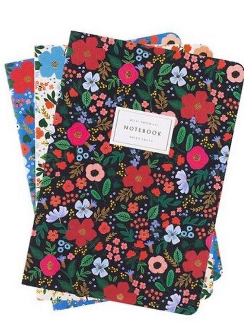 3 Notebook Wild Rose