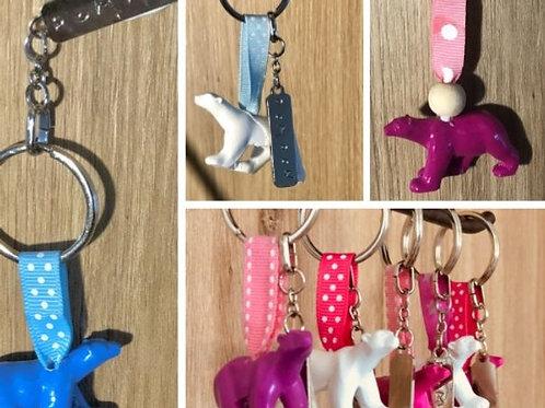 Porte-clés ours Pompon