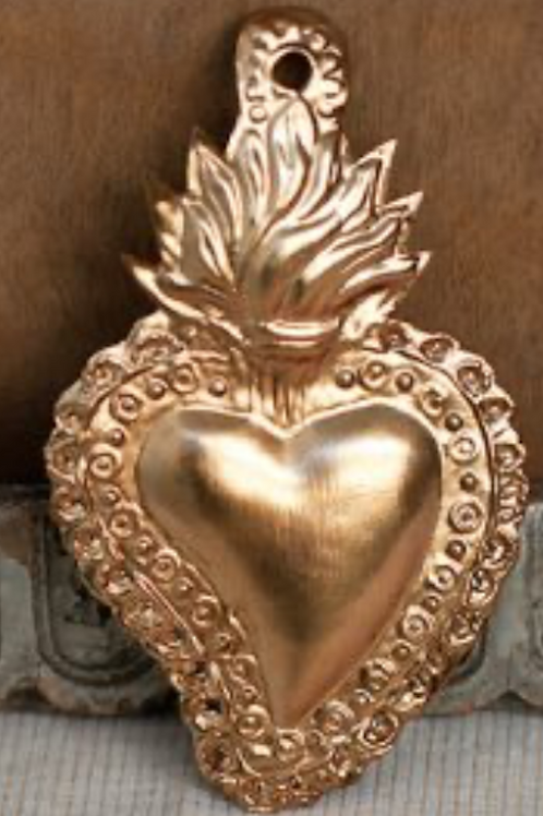 Cœur mini love ardent - gold
