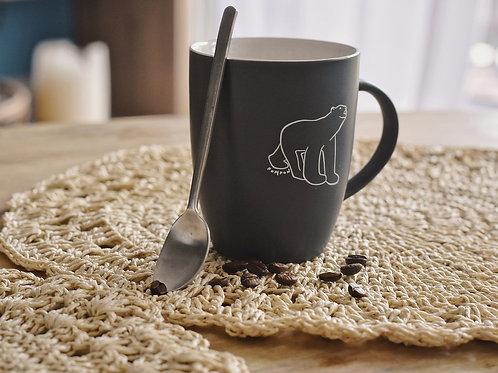 Mug ours pompon gris
