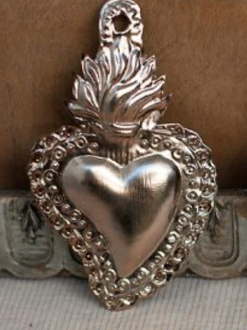 Cœur mini love ardent - argent