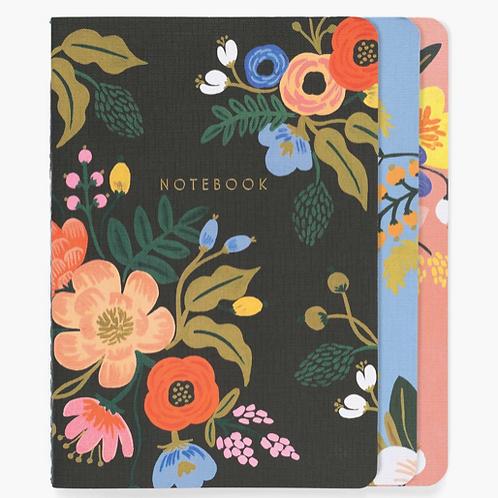 Set 3 notebook Lively floral