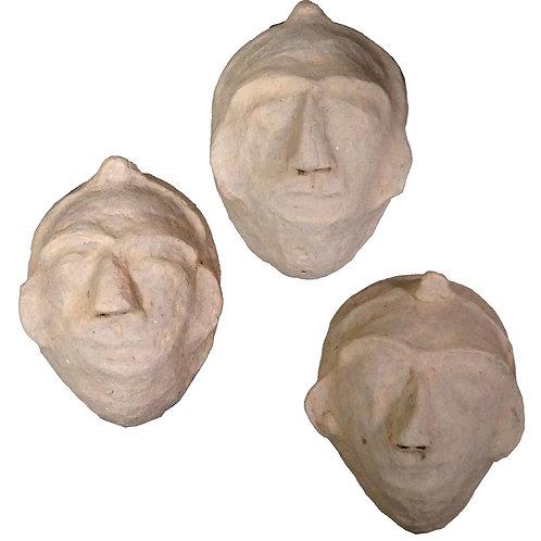 Masque en papier mâché à l'unité
