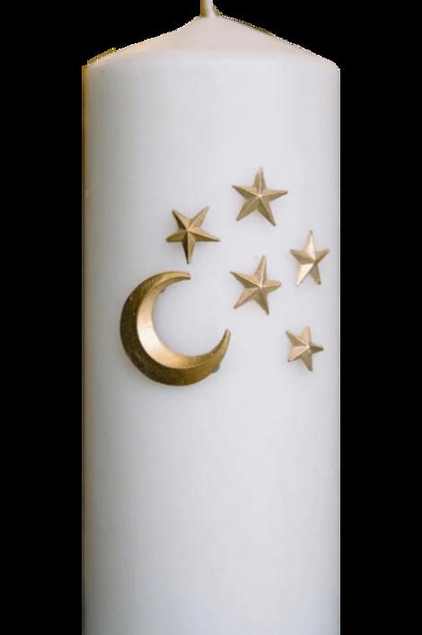 Bijoux de bougies -Moon et stars