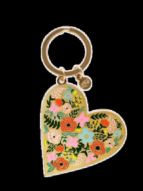 Porte-clés Floral heart