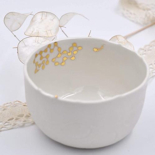 Bol en porcelaine blanche fait main