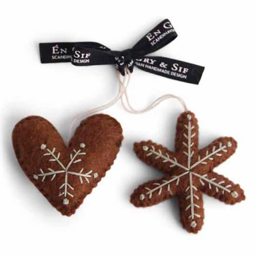 Cœur et étoile pain d'épice