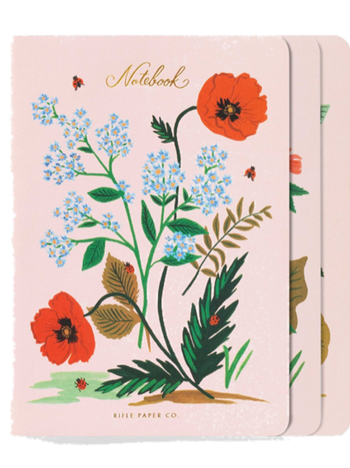 Set 3 notebook Botanical