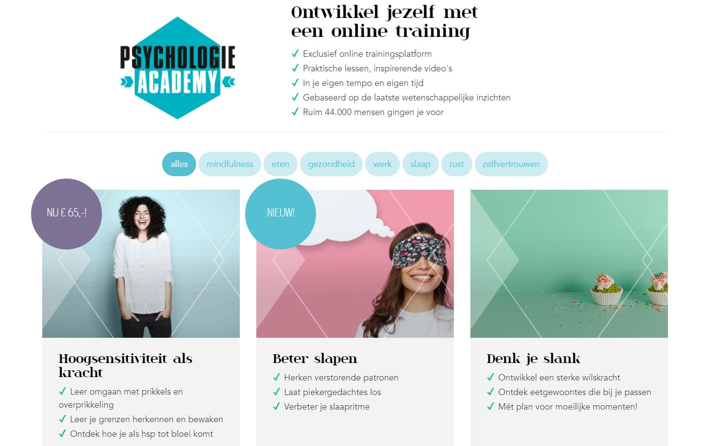 Online trainingsplatform Psychologie Magazine