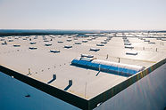 Large roof of factory with roof ventilat