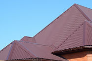 Roof metal sheets. Modern types of roofi