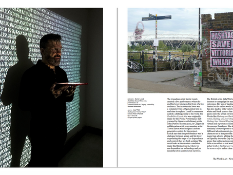 """""""Possibilities Exceed 9"""" Featured in New Thames and Hudson Publication on Text-Based Art b"""