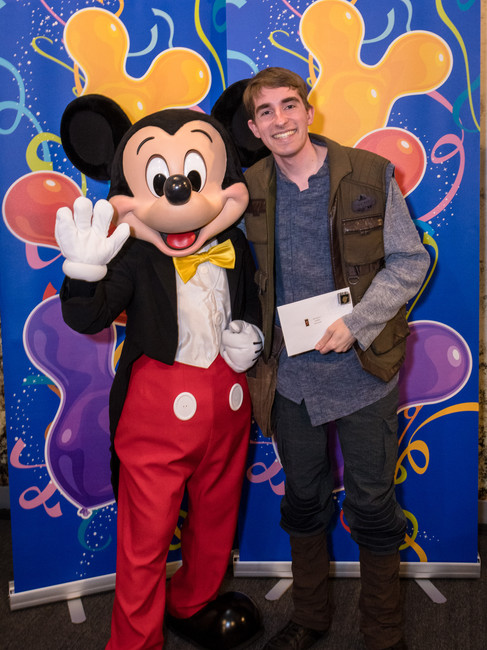 2020: Celebrates One Year of Employment with Disney