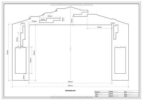 Proscemium arch- Pace Theatre Panto- Fra