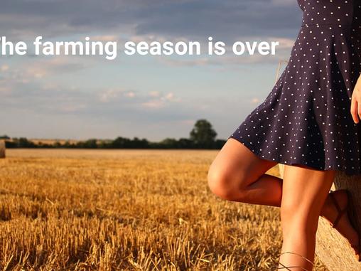 The farming season is over at Arcona Digital Land
