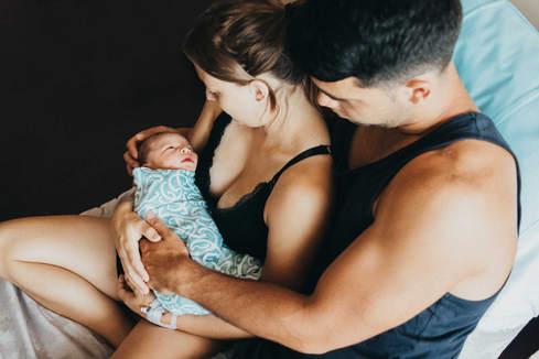 family and newborn