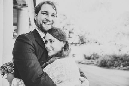 christchurch wedding bride and groom