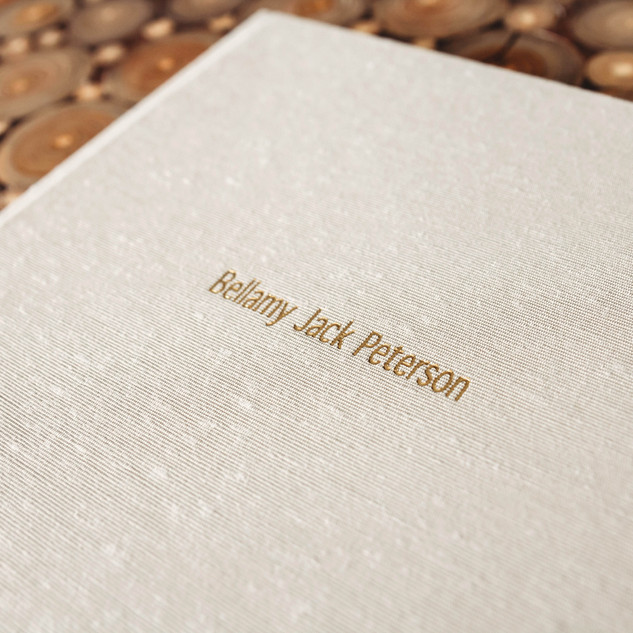 Album embossing - gold foil