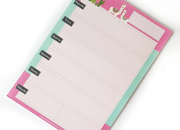 Planner Semanal A5 Lhama