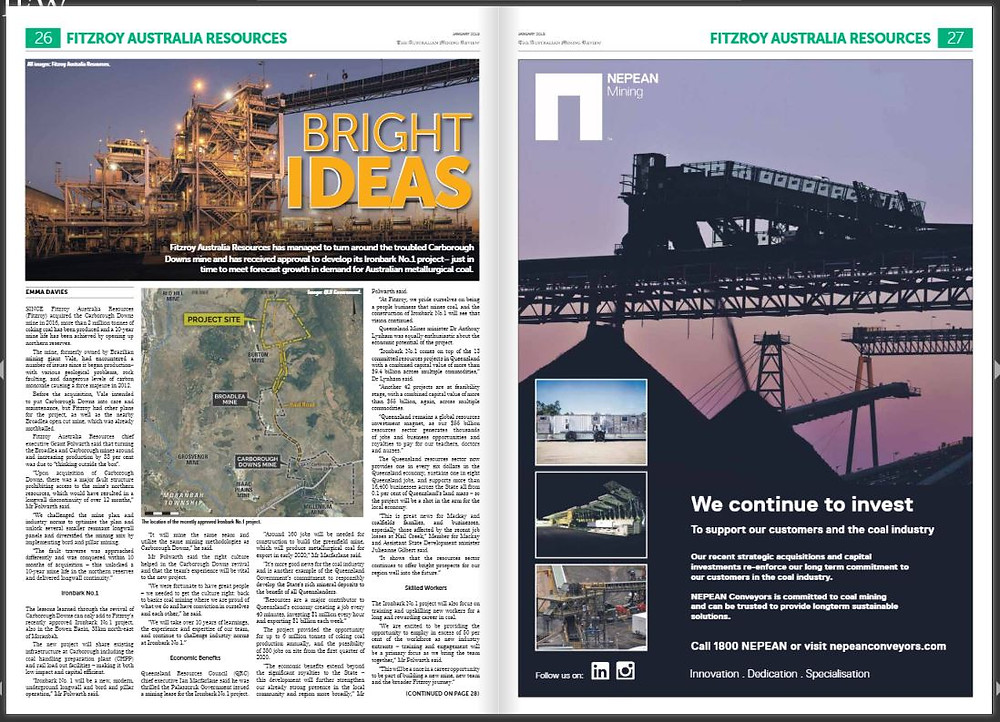 NEPEAN Mining featuring in the Australian Mining Review