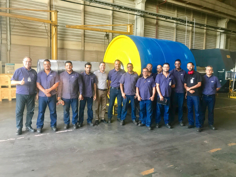 NEPEAN Conveyors Brasil builds largest drive pulley in the world