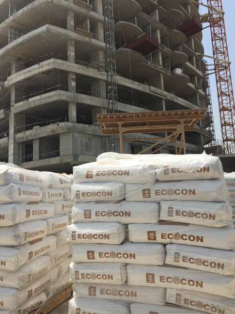 ECOCON Dry Mix at Construction Site