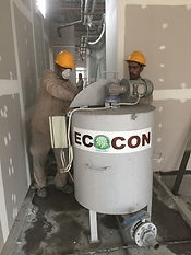 ECOCON mixer for preparation of lightweight concrete screed