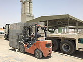 Loading of blocks at ECOCON plant
