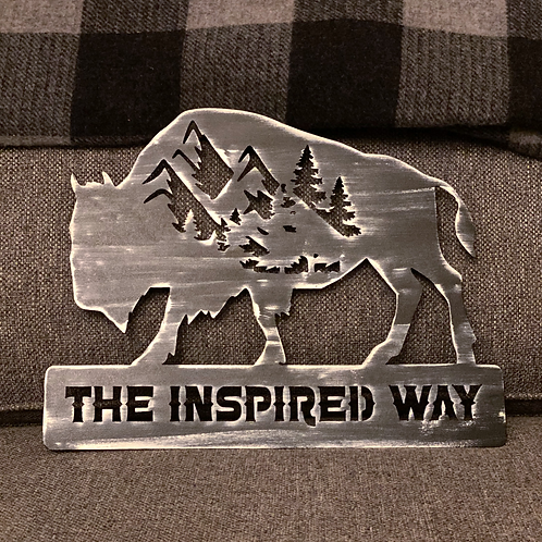 """""""The Inspired Way"""" Metal Wall Decor"""